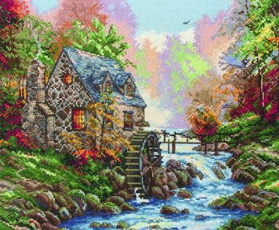 Counted Cross Stitch Kit ANCHOR - Maia Collection - Cobblestone Mill