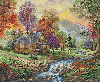 Counted Cross Stitch Kit ANCHOR - Maia Collection - Mountain Retreat