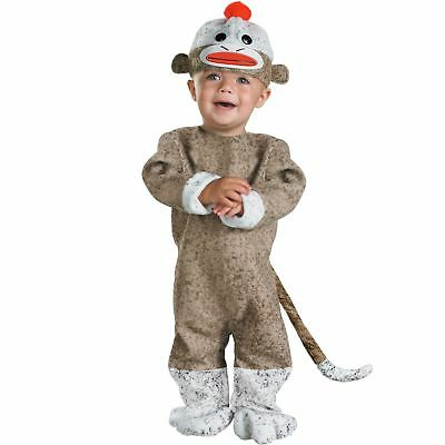 GIFT! Retro SOCK MONKEY OUTFIT COSTUME Baby Toddler Boys / Girls 12-18 Months US