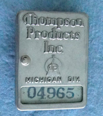 Vintage THOMPSON PRODUCTS (TRW) Employee ID Badge: MICHIGAN DIV (1940's/50's)