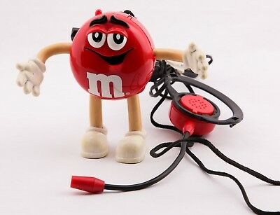M&M Candy Corded Headset Phone Collectible Telephone Red Character