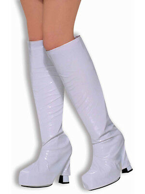 Sexy White Disco Go-Go Dancer Costume Boot Top Covers
