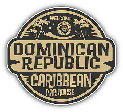 Dominican republic travel car bumper sticker decal 5