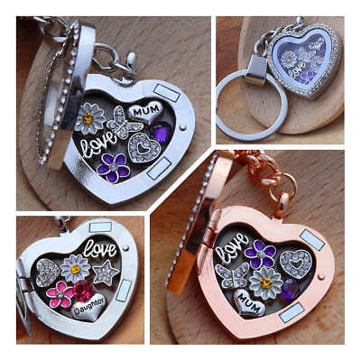 Personalised heart locket keyring for mum sister nan Birthday mothers day gift