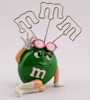 Green M&M Sunglasses Desktop Counter Photo Card Picture Stand Holder