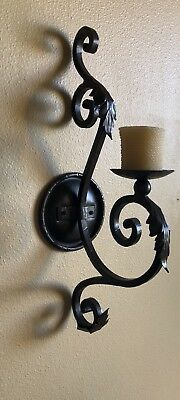 Beautiful Pair of Custom Made Hand Forged Wrought Iron Tuscan Style Sconces