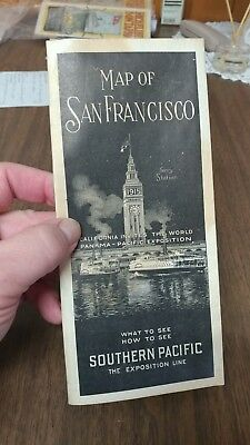 map of san francisco southern pacific the exposition line 1914