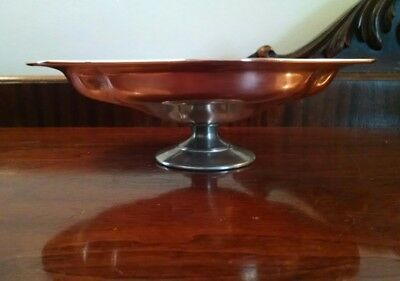 Antique Arts & Crafts Era Copper Compote Pedestal Dish Jardiniere Viking MSCO165