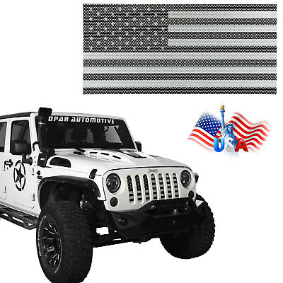 c17f02b0 USA Flag Steel Front Mesh Grille Inserts for 2007-2018 Jeep Wrangler JK 2/