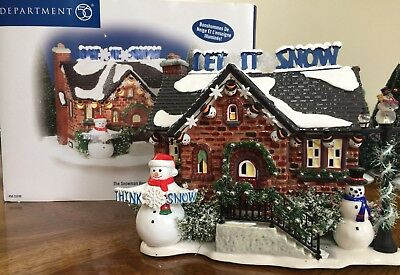 Department 56 Snow Village THE SNOWMAN HOUSE (FREE SHIPPING - $99.99 OBO)