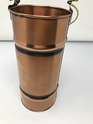 Extremely Rare Vintage Gregorian Solid Copper Bucket