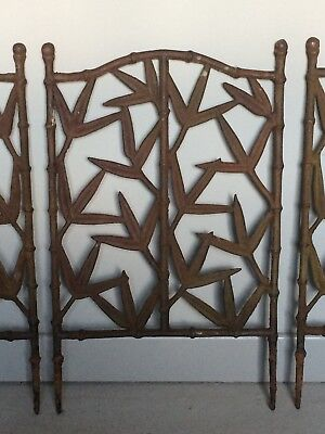 Vintage faux bamboo cast iron panel salvage reclamation architectural garden