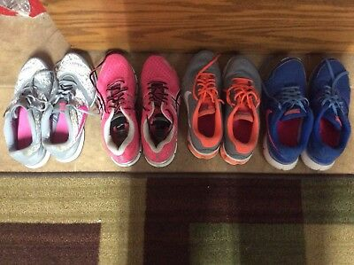 Ladies Tennis Shoes Lot Of 4 Pairs , All Size 10