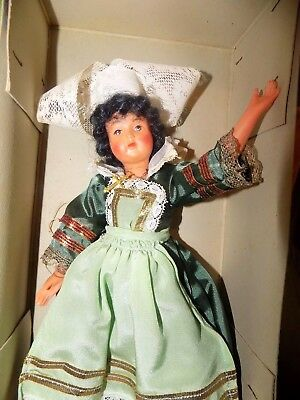 "Antique Vintage French Poupee Celluloid Doll 12"" with box RARE"