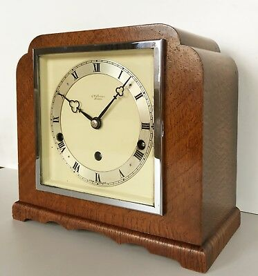 London Pollard Oak Elliott Quarter Chiming Mantle Clock