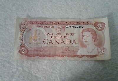 1974 Canada Deux Two Dollars