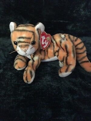 TY BEANIE BABIES - India - Tiger - MWMT - Retired Gen tag 6 cfdd245d0da