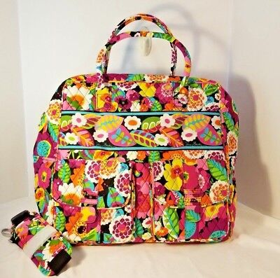 Vera Bradley Grand Cargo Travel Bag Weekend Luggage in Va Va Bloom NWOT