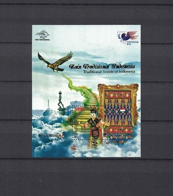 Indonesia Indonesien 2012 s/sh perforated gold serie No 7 ** / mnh # 30.000