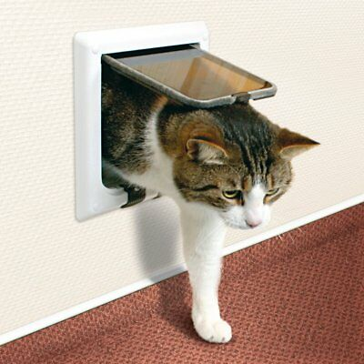 Trixie Pet Products 4 Way Cat Door with Tunnel, White