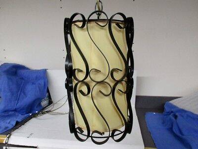 Vintage 70's Hanging Swag  Lamp Light Wrought Iron