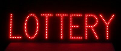 LED Lighted LOTTERY SIGN, STORE DISPLAY Advertising, Gambling, New in Box, MINT