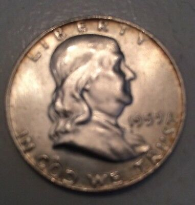1959-D Franklin Half Dollar AUNC