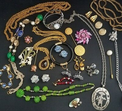 large lot of vintage jewelry. All wearable