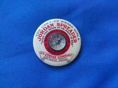 Rare O. F. Jordan Co. Compass East Chicago Indiana Spreader Advertising Giveaway