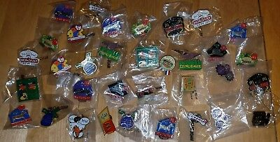 Lot 34 McDonald's Employee Crew Collectable NEW Pins Disney,TY,Monopoly,Hbo,+