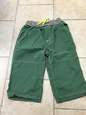 Mini Boden Distressed Green Rib Waist Shorts, boys size 11
