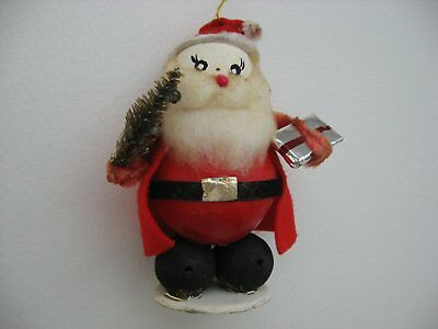 Vintage Antique Christmas Ornament Santa/Hand Painted Composite//German??