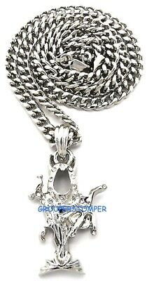 Juggalo Necklace New Pendant With 24 Inch Cuban Link Chain Wraith