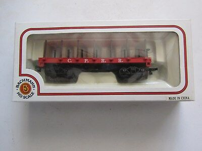 Vintage HO Scale Bachmann No.72424 C.P.R.R. 34'Old Time Flat Car