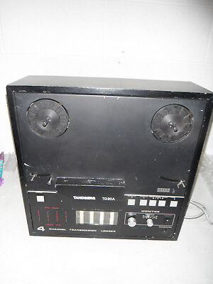 Tandberg Model Td20A 4 Channel Logger Reel To Reel Tape Recorder As-Is