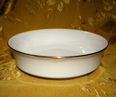 """NORITAKE *GOLDEN COVE* 7719 ROUND VEGETABLE BOWL(S) 8 1/4"""" GOLD TRIM buy 1 or 2"""