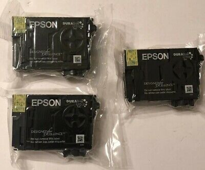 Lot of 3 Genuine Epson 200 Yellow Ink **NEW SEALED**