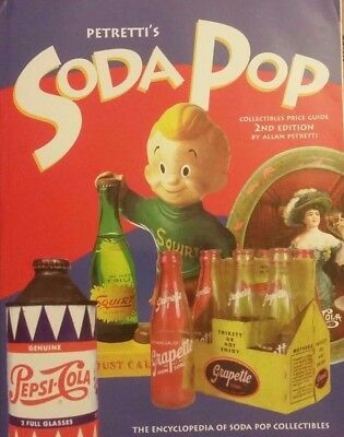 Soda-Pop Value Guide Collector's Book Red Rock 7-Up Root Beer Pepsi Coke