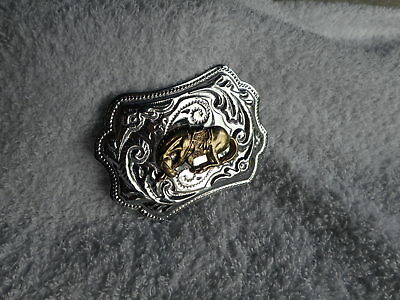 Bronco Cowboy Rodeo Horse Riding Belt Buckle 70's Cowboy Cowgirl Sunday Market