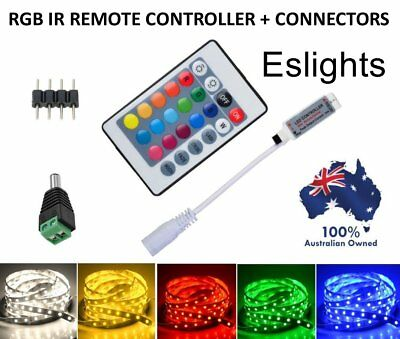 Rgb Led Strip Light 24 Key Ir Remote Control Wireless Controller Rgb 3528 5050