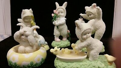 Lot of 5 Spring Snowbunnies Dept 56, I found These in Your Garden, Everybody In