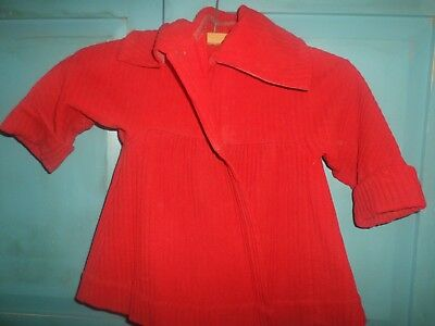 Antique Red Wool Small Childs Jacket ,Turn of the Century Era Nice Condition