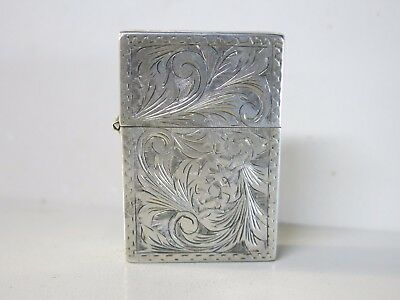 Vintage Sterling Silver Zippo Lighter Made in ITALY