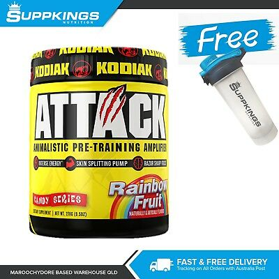 Attack Pre Workout Kodiak Sports Nutrition 25 Serve // PLUS FREE Shaker