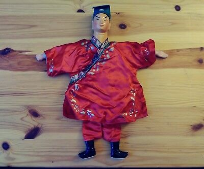 Smoke and pet free, Asian Chinese Opera Doll Puppet man male figure