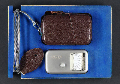 Minox Light Meter With Brown Case And Chain Vintage