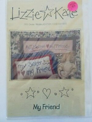 Lizzie Kate My Friend Counted Cross Stitch # 026 Mother Sister