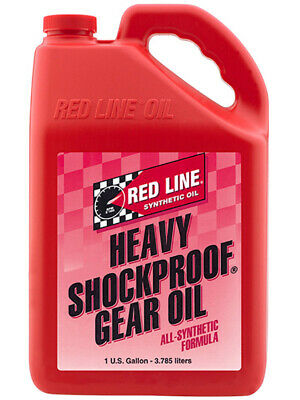 4 x Redline Heavy ShockProof Gear Oil 3.785L (58205)