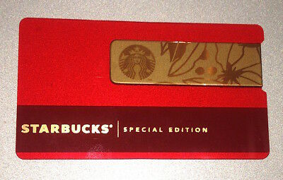 Rare Starbucks Card Mexico RED METAL WRAP 2017 SET Special Limited Edition #6144