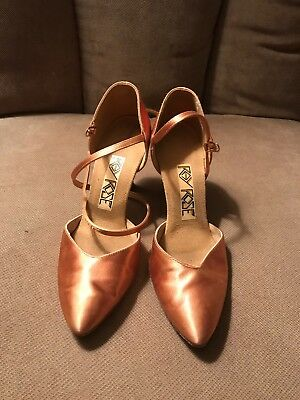 Ray Rose Smooth Ballroom Dance Shoes Rise Gold Size UK 3 1/2 (US Size 6)